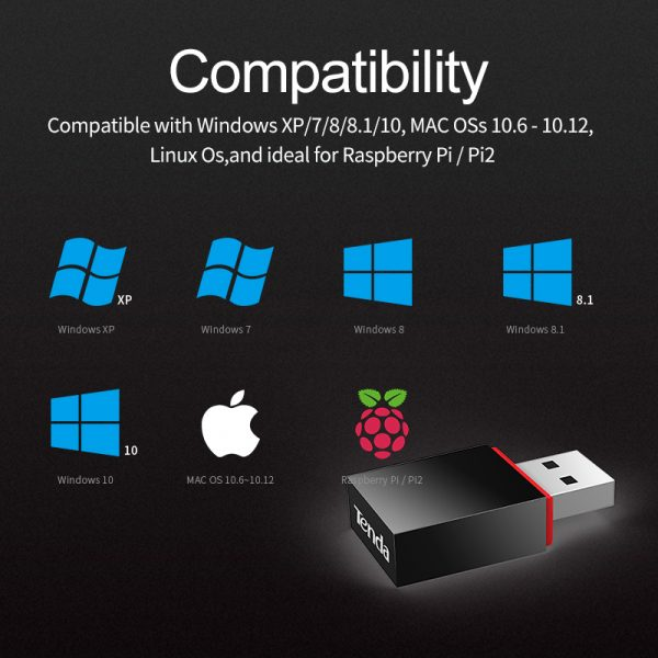 Supports Windows Linux USB Wifi Wireless Adapter 150Mbps 802.11n Ideal for Raspberry Pi // Pi2 Mac OS